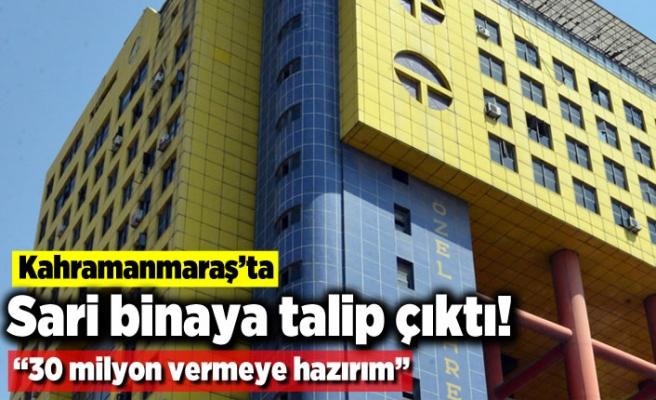 """Sarı binaya talip çıktı! """"30 milyon vermeye hazırım"""""""