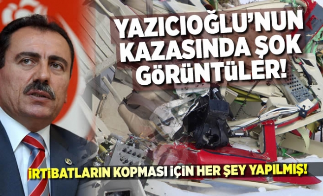 Yazıcıoğlu'nun kazasında şok görüntüler ortaya çıktı!