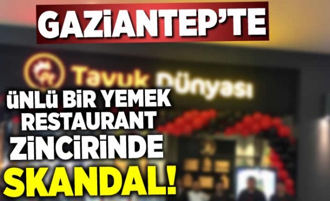 Gaziantep'te skandal ünlü restaurant zincirinde yemeğin içinden çıkan şoke etti!