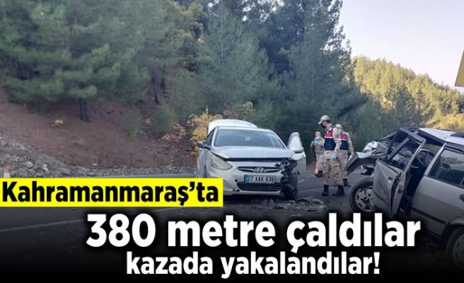 Kahramanmaraş'ta 380 metre çaldılar kazada yakalandılar!