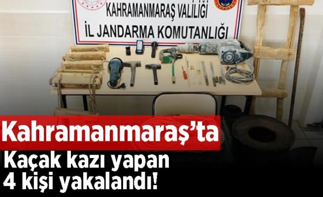 Kahramanmaraş'ta kaçak kazı yapan 4 kişi yakalandı!