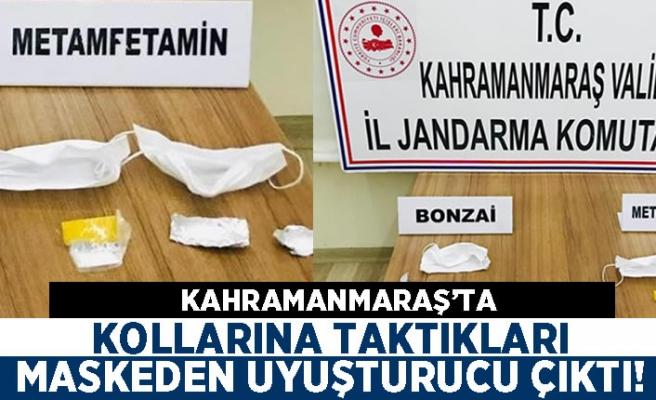 Kahramanmaraş'ta kollarına taktıkları maskeden uyuşturucu çıktı!