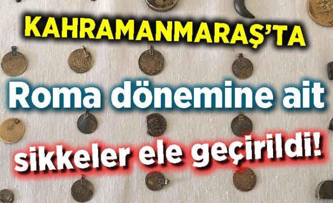 Kahramanmaraş'ta Roma dönemine ait sikkeler ele geçirildi