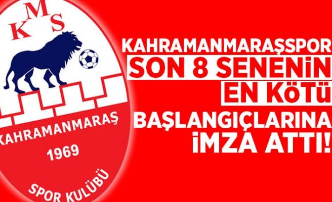Kahramanmaraşspor son 8 senenin en kötü başlangıçlarına imza attı!