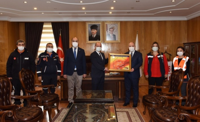 1-7 Mart deprem haftası dolayısıyla valimiz Ömer Faruk COŞKUN'A ziyaret
