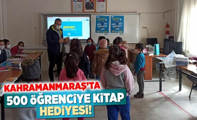 Kahramanmaraş'ta 500 öğrenciye kitap hediyesi!