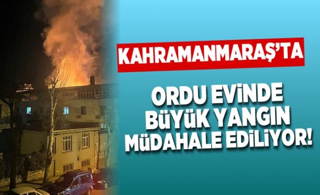 Kahramanmaraş'ta büyük yangın! müdahale sürüyor!