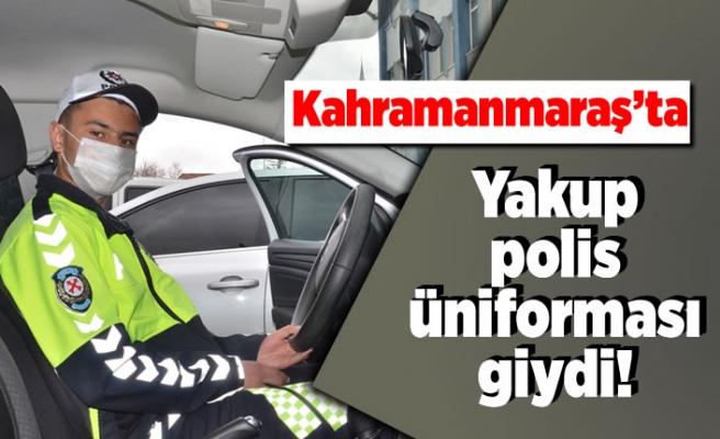 Kahramanmaraş'ta yakup polis üniforması giydi!