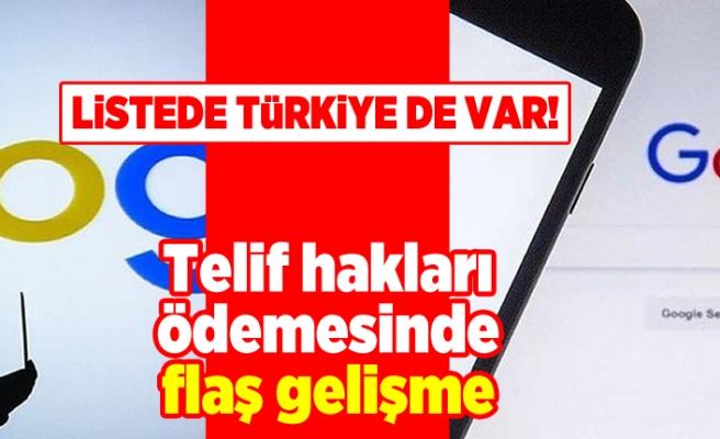 Listede Türkiye de var! Telif hakları ödemesinde flaş gelişme!