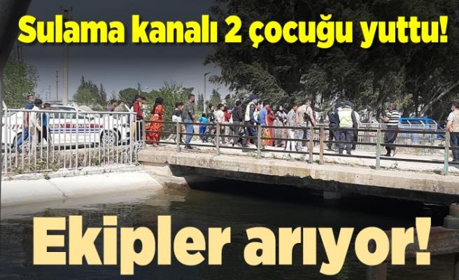 Sulama kanalına giren 2 çocuk bulunamadı!