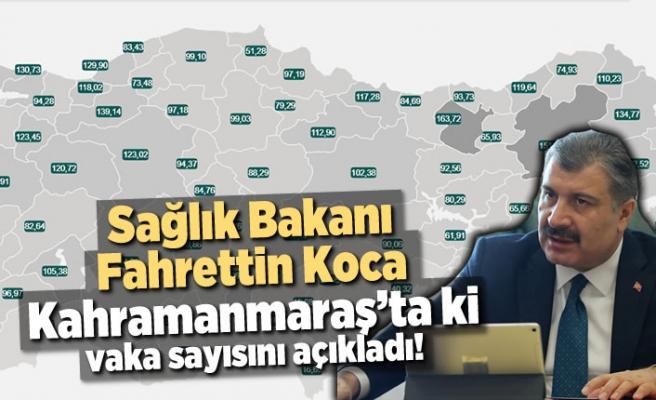 İşte Kahramanmaraş'ta covid haritasında son durum!