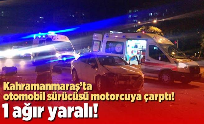 Kahramanmaraş'ta ışık ihlali yapan motokurye ağır yaralandı!