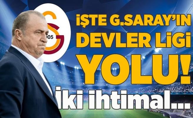 Son dakika spor haberleri: İşte Galatasaray'ın Şampiyonlar Ligi yolu! İki ihtimal...