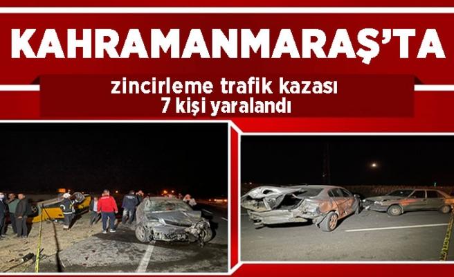 Elbistan'da zincirleme kaza: 7 yaralı
