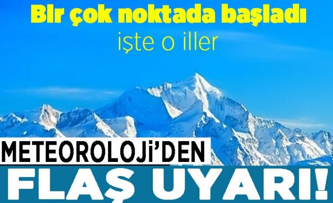 Meteoroloji'den flaş hava durumu uyarısı: İstanbul, Denizli, Antalya, Burdur...