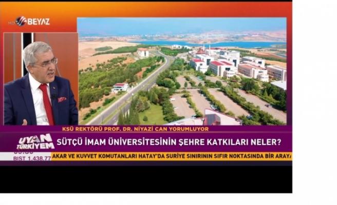 Üniversitemiz Rektörü Prof. Dr. Niyazi Can, Beyaz TV'de Yayınlanan Uyan Türkiyem Programına Katılarak Şehrimizi ve Üniversitemizi Tanıttı