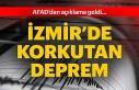 İzmir de deprem anları!