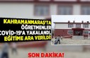 Kahramanmaraş'ta öğretmenler Covid-19'a...