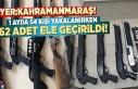 Yer:Kahramanmaraş! 1 ayda 54 kişiden 62 adet silah...