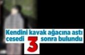 Kayseri'de kendini arazide bir ağaca asan adam, üç gün sonra bulundu!