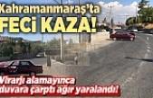 Kahramanmaraş'ta feci kaza! Virajı alamayınca evin bahçesine çarparak durabildi