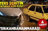 Kahramanmaraş'ta ters şeritten gelen sürücü dehşet saçtı!