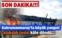 Kahramanmaraş'ta büyük yangın tesis kullanılamaz hale geldi!