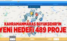 KAHRAMANMARAŞ BÜYÜKŞEHİR'İN  YENİ HEDEFİ 489 PROJE