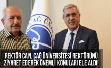 KSÜ Rektörü Can, ÇAĞ Üniversitesi Rektörünü ziyaret ederek önemli konuları ele aldı!