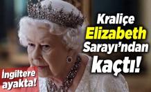 Kraliçe Elizabeth koronavirüs korkusuyla Buckingham Sarayı'ndan kaçtı