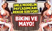Ünlü model Demi Rose, bikinili paylaşımıyla beğeni rekoru kırdı
