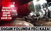 Düğün yolunda feci kaza! Araçlar hurdaya döndü 3 ölü ve yaralı var!