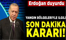Cumhurbaşkanı Erdoğan duyurdu! Yangın bölgeleri afet bölgesi ilan edildi