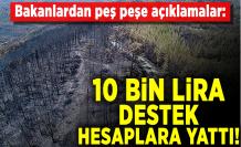 Bakanlardan peş peşe açıklamalar: 10 bin lira destek hesaplara yattı
