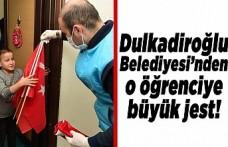 Dulkadiroğlu Belediyesi'nden o öğrenciye büyük jest!