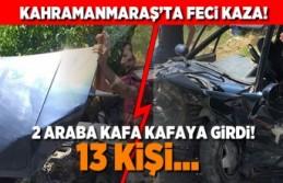 Kahramanmaraş'ta feci kaza! 13 Kişi...