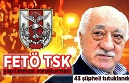 FETÖ TSK yapılanması soruşturması: 43 şüpheli...