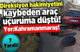 Kahramanmaraş'ta araç uçuruma düştü, 7...