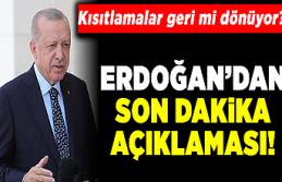 Son dakika! Cumhurbaşkanı Erdoğan'dan korona...