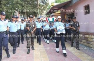 Şehit polis memuruna memleketinde son görev