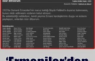 'Ermeniler'den özür' kavgası!