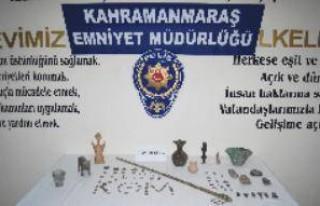 10 kişi 95 parça tarihi eserle yakalandı