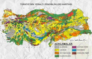 Türkiye'nin yeraltı zenginlikleri haritası