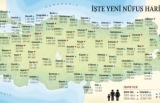 Türkiye'nin nüfusu bir yılda 930 bin arttı