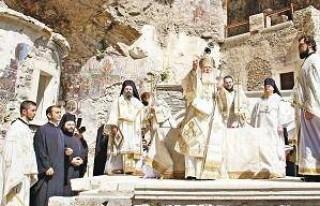 Sümela Manastırı'nda 88 yıl sonra ilk ayin!
