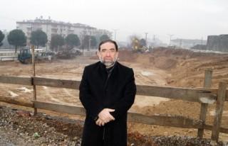 Abdulhamithan Camii Otoparkı inşaatına başlandı..