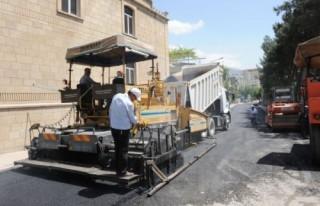 Belediye'nin asfalt çalışmaları İsadivanlı'da...