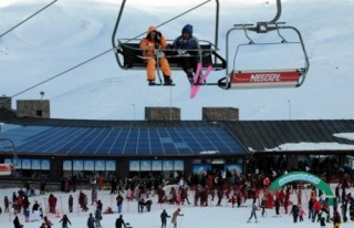 Erciyes'te kar kalınlığı 260 santimetre..