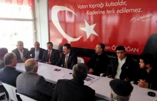 MHP adayı Özdoğan'ı CHP heyeti ziyaret etti