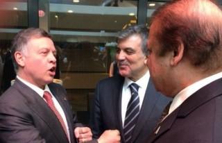 Gül, dünya liderleriyle görüştü